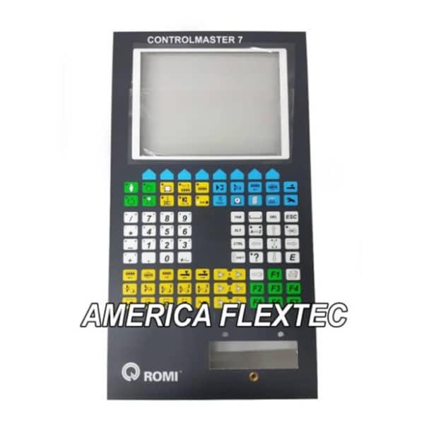 Romi Injetora Teclado Membrana Controlmaster 7 Cm7 C/ Chapa