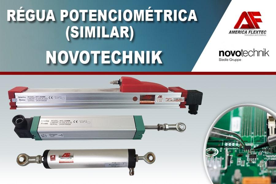 Régua potenciométrica similar Novotechnik